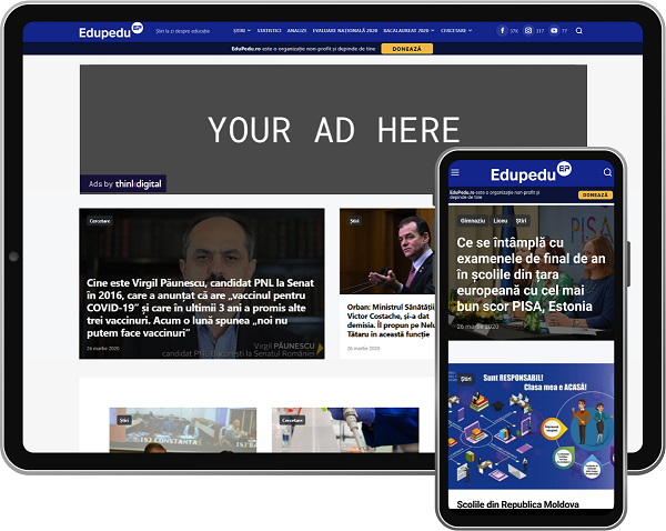 EduPedu.ro – publicație online dedicată educației cu peste 2.5 milioane de vizitatori unici lunar – se alătură rețelei Thinkdigital
