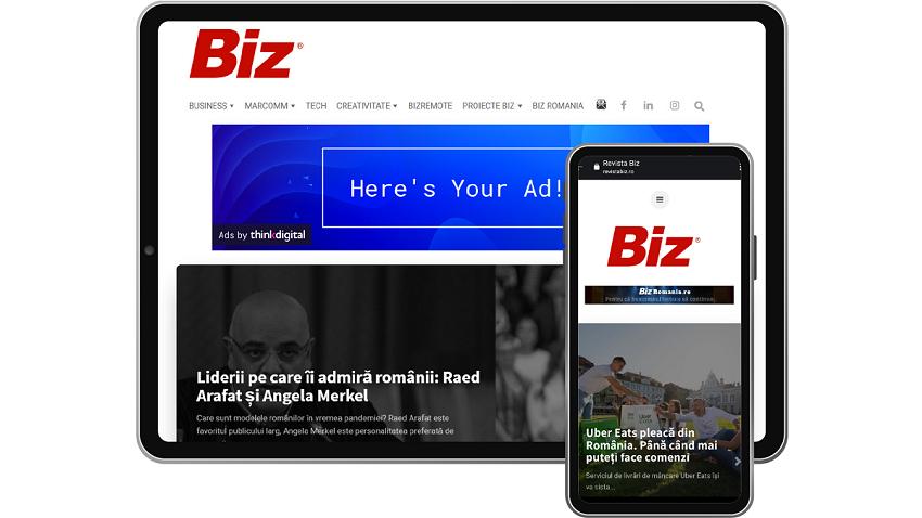 Noul portal web realizat de echipa cunoscutei reviste BIZ se alătură rețelei premium operate de Thinkdigital în România