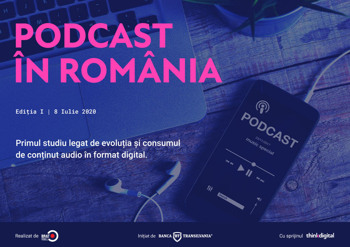 The first study about digital audio content consumption in Romania: over 3,2 million Romanians declare they listen to podcasts