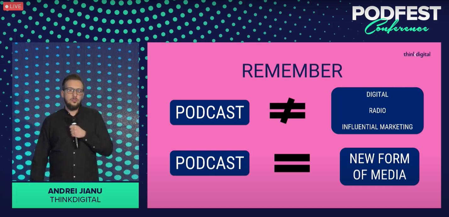 5 tendințe din industria de podcasting din România au fost prezentate de Thinkdigital la Podfest 2021